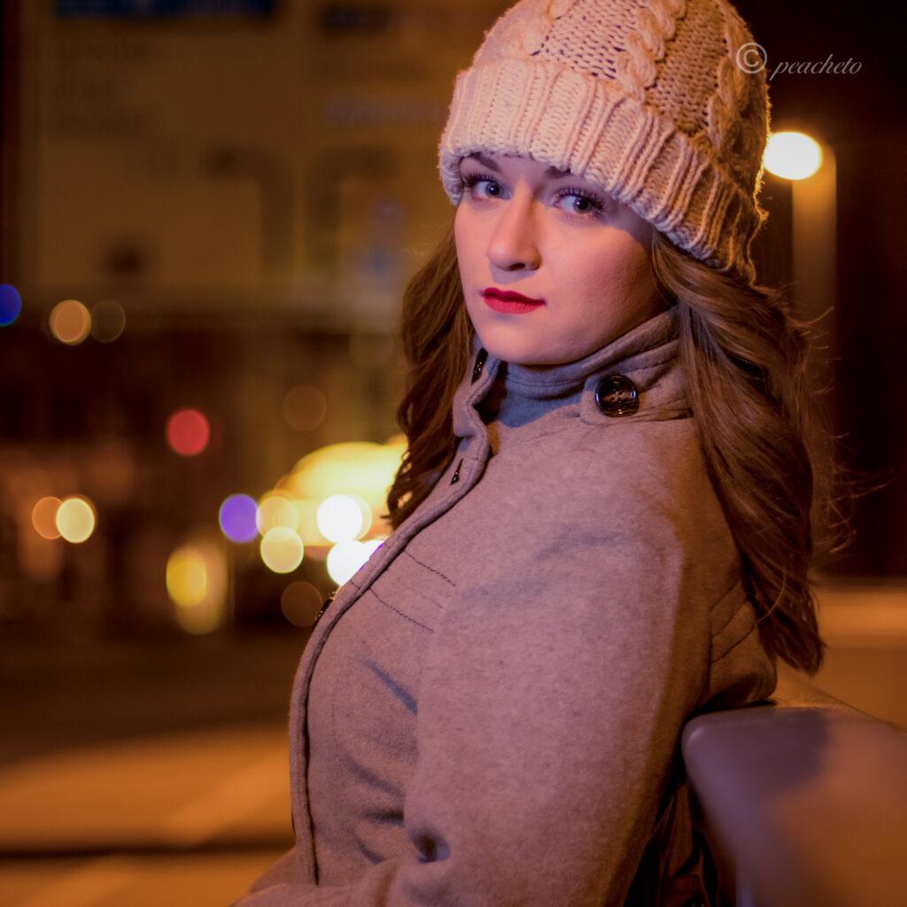 Portraitshooting mit Anika am Abend in Meißen mit Blitz