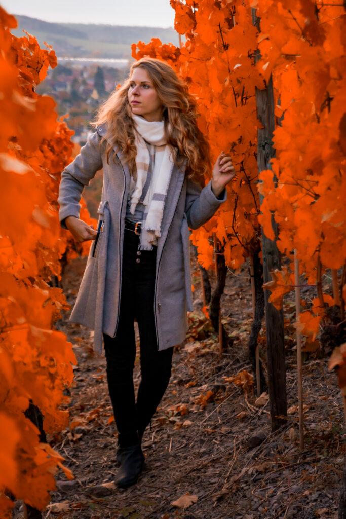Fotoshooting Sophie, Herbst, portrait, Radebeul, Weinberg