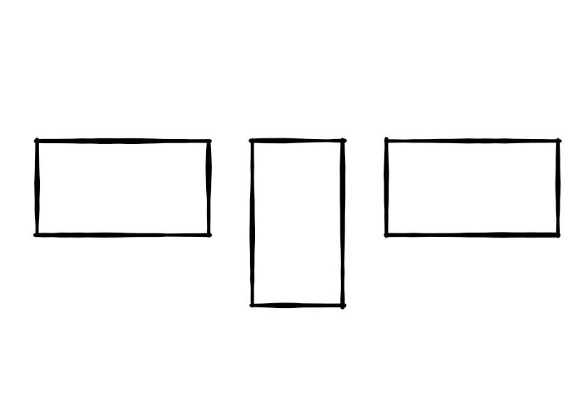 Kantenhängung Oberkante