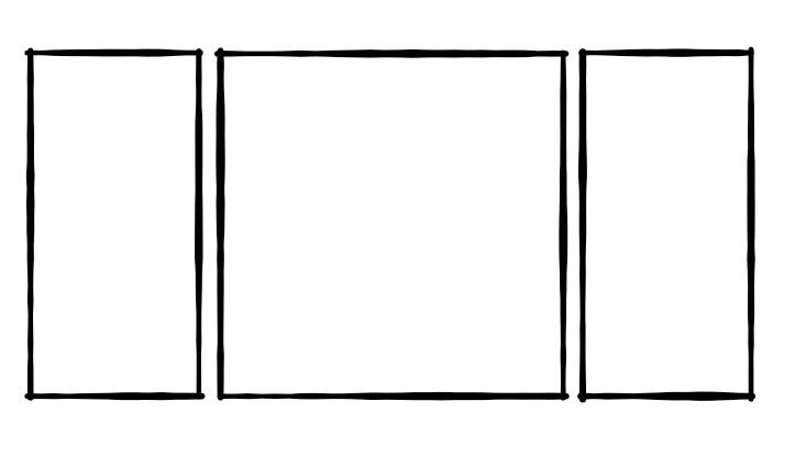 Mehrteiler Triptychon